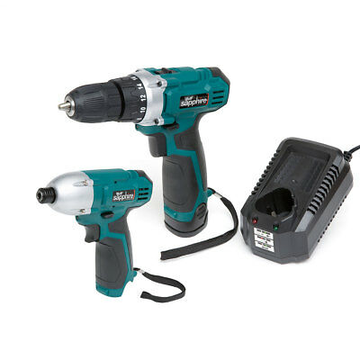 Wolf Sapphire 12v Drill Driver Li-ion Battery, Charger & 12v Impact Driver Body