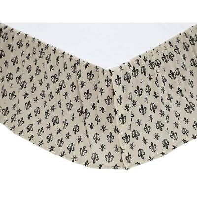 Elysee Black  French Country King Queen Twin Bed Skirt