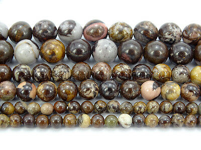 Natural Outback Jasper Gemstone Round Loose Spacer Beads 15'' 4mm 6mm 8mm 10mm