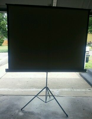 Da Lite Vidio Hilo Projection Screen Vintage Large 5 Foot By 5 Foot