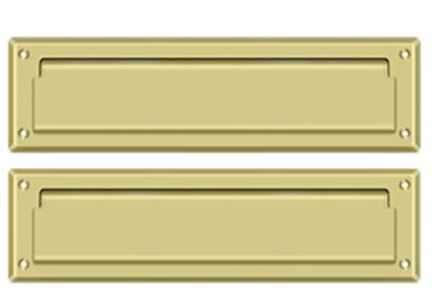 """FPL MS212 Mail/Letter Slot Solid Brass 13-1/8"""" with Interior Flap 9 Finishes"""