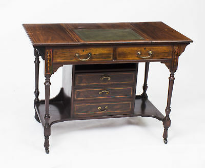Antique Edwardian Inlaid Writing Table Desk c.1900