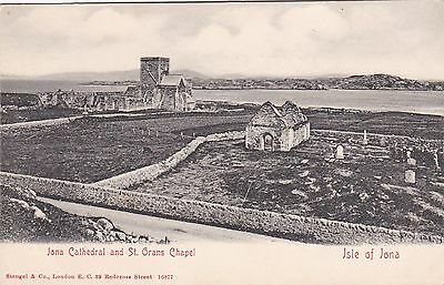 n scotland scottish postcard isle of iona