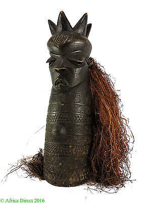 Western Pende Mask with Raffia Congo African Art 32 Inch SALE WAS $595
