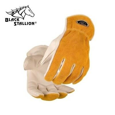 Black Stallion Value Grain/Split Cowhide Driver's Gloves 97K
