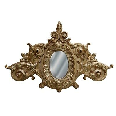 Hickory Manor Scroll Top Mirror/Gold Leaf - HM9718GL