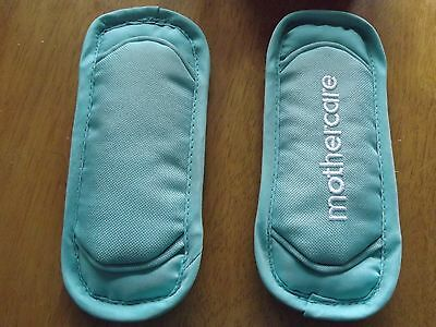MOTHERCARE   Pram Pushchair Padded Harness Chest Shoulder Pads Mint Aqua