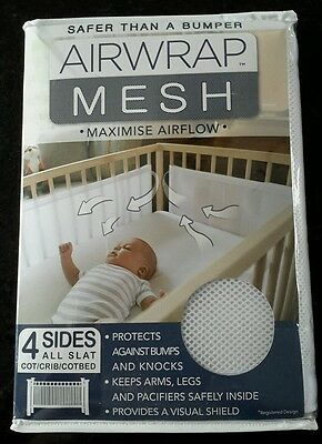 New Airwrap 4-Sided Bed mesh, safer than a bumper, neutral.