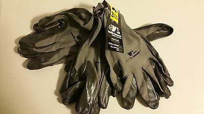 Wells Lamont Work Gloves 3 pair pack - nitrile coated - one size fits most NEW!