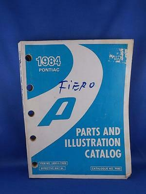 1984 Pontiac Fiero? Parts And Illustration Catalog Car Auto Repair No. P080