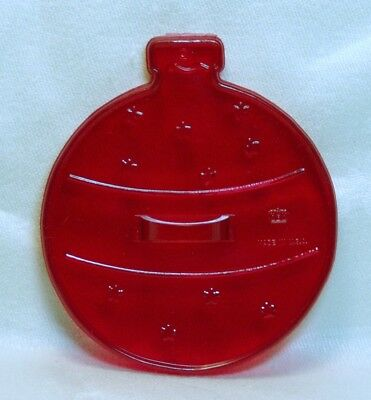 Vintage HRM Design Red Plastic Cookie Cutter - Ball Ornament Christmas Tree