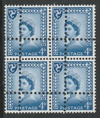 Isle of Man 3689 - 1967 Regional 4d block of 4  DOUBLE PERFS  FORGERY u/m