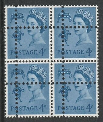 Jersey 3690 - 1967 Regional 4d block of 4  DOUBLE PERFS  FORGERY u/m