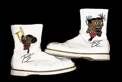 Wwe Big E The New Day Ring Worn And Hand Signed Wrestling Boots With Coa
