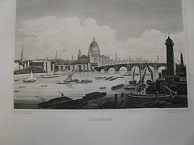 1843 ORIGINAL View of London, England.