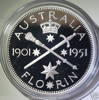 Cook Islands 2011 - 1951 Federation Silver Florin.. 1oz Silver Proof