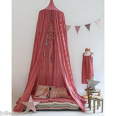 NEW Watermelon Red Round Lace Curtain Dome Canopy Netting Princess Mosquito Net