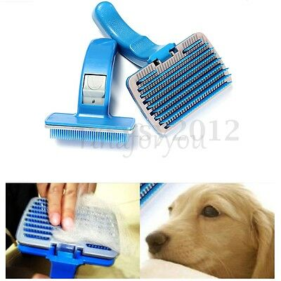Uk Cleaning Dog Puppy Cat Kitten Hair Brush Comb Groom Clean Hair Pet S/l Size