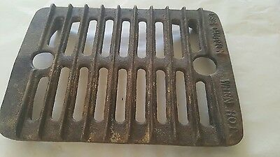 VTG Cast Iron Wall Floor Vent Register Grille Cover Grate Oven Antique Stove