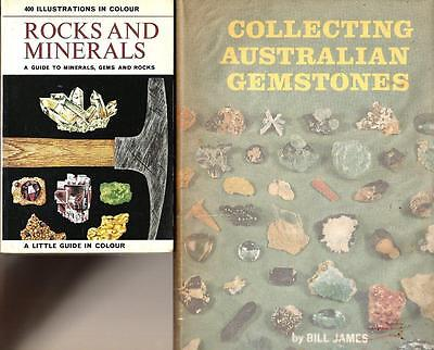 COLLECTING AUSTRALIAN GEMSTONES Bill James + ROCKS & MINERALS x 2 books