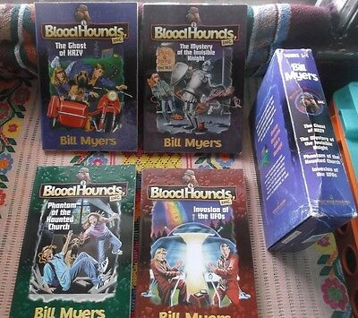 BLOODHOUND Dog Stories in SlipCase ~~ BLOODHOUNDS, Inc by BILL MYERS ~ EXCELLENT