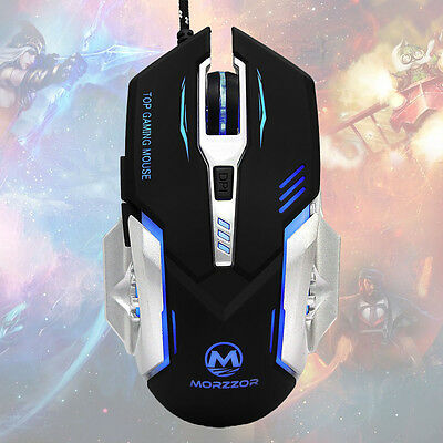 Wired Adjustable 3200 DPI 6D LED Mechanical Gaming Mouse Mice For PC Laptop