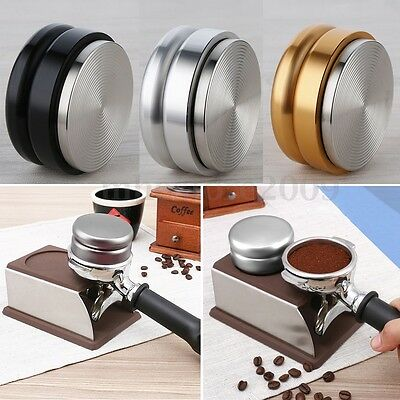 58.5mm Smart Adjustable Coffee Tamper Stainless Steel Base Thread Filling Device