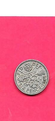 Great Britain Gb Uk 6 Pence Km903 1961 Vf-Very Fine-Nice Old Vintage Coin
