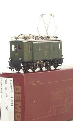 MINT BEMO 1256 103 HOm - SWISS RhB GREEN Ge 2/4  ELECTRIC LOCOMOTIVE No.203