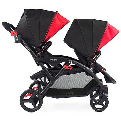 Contours Options Tandem Stroller - Black/Red