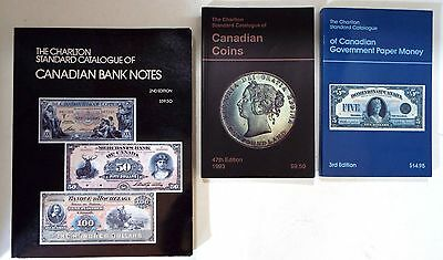 Lot 3 Charlton Standard Catalogue Canadian Coins / Paper Money / Bank Notes Book