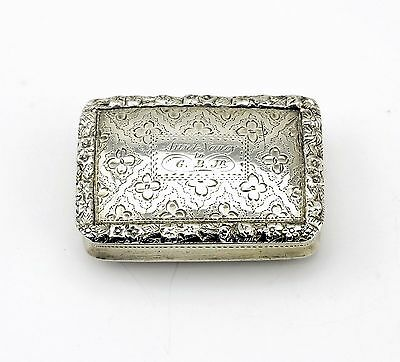 Antique Nathaniel Mills Silver Vinaigrette Box