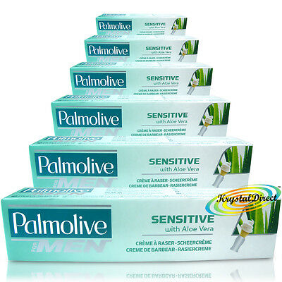 6x Palmolive Sensitive Shave Lather Shave Cream 100ml use with Shaving Brush