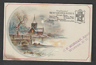 Victorian Trade Card New Hope Sewing Machine Orange Mass.  Warner N.h.