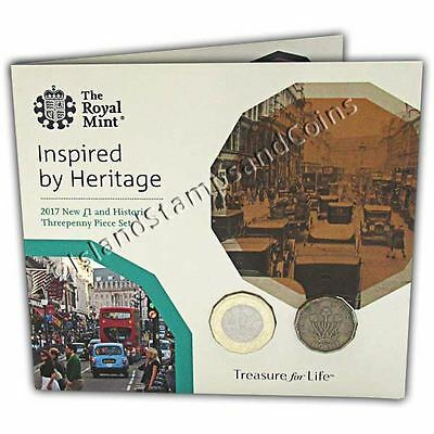 Threepenny & New 12 sided �1 Coin Two Coin Set