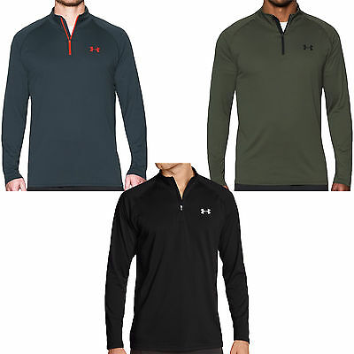 Under Armour UA Mens Long Sleeve 1/4 Zip Tech Workout Training Shirt Top