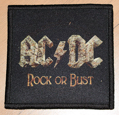 """AC/DC """"ROCK OR BUST"""" silk screen PATCH"""