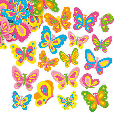 Butterfly Foam Stickers for Kid's Craft Decorations & Card Making (Pack of 102)