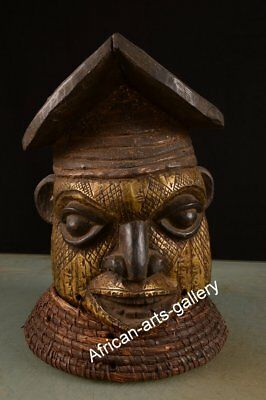 1235 Rare Helmet mask of the Bamun Cameroon / Cameroon Africa