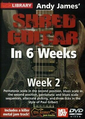 Lick Library: Andy James' Shred Guitar in 6 Weeks - Wee (2011, REGION 1 DVD New