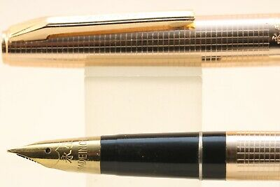 Vintage Wing Sung No. 235 Rose Gold Geometric Fine Fountain Pen