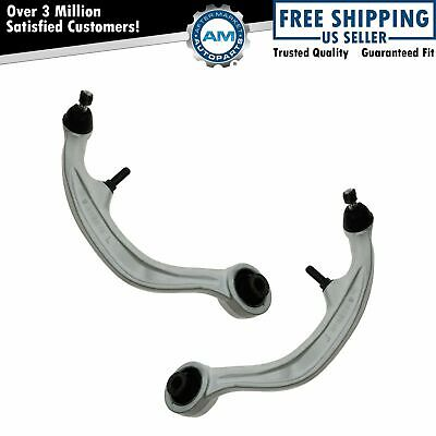 Front Lower Rearward Control Arms w/ Ball Joints Pair Set for 350Z G35 Coupe