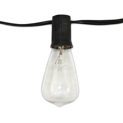 String Light Company Edison Vintage 48 Ft Lights with 24 Sockets and Clear...