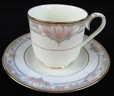 Noritake Bone China Barrymore Footed Cup And Saucer Set
