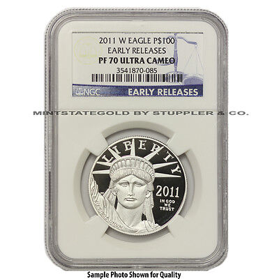 2011-W $100 Platinum Eagle NGC PF70UCAM Early Releases Ultra Cameo 1 oz Proof