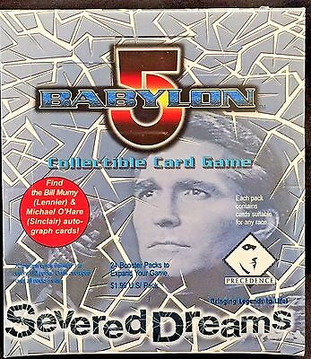 "BABYLON 5 ""Severed Dreams"" Booster Card Box (24/8) FACTORY SEALED CCG"