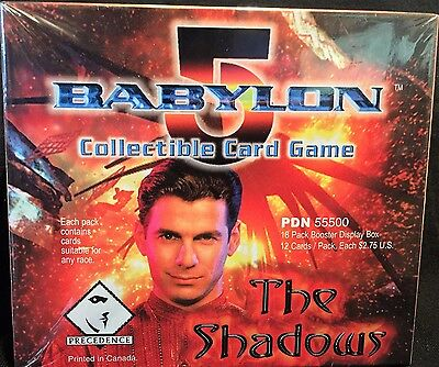 """BABYLON 5 """"The Shadows"""" Booster Card Box (18/12) FACTORY SEALED CCG"""