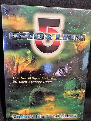 "BABYLON 5 ""Non Aligned Worlds"" (60) Card Starter Deck FACTORY SEALED CCG"