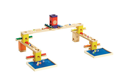 Hape Quadrilla Wooden Marble Run Construction Music Time Playing Together Safe