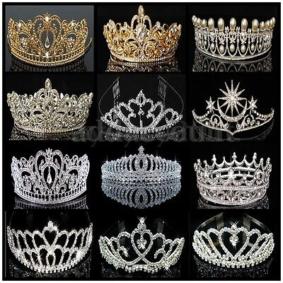 Princess Wedding Prom Bridal Headband Rhinestone Crystal Hair Band Tiara Crown